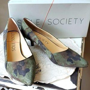 Sole Society So Desi Camo Kitten Heels